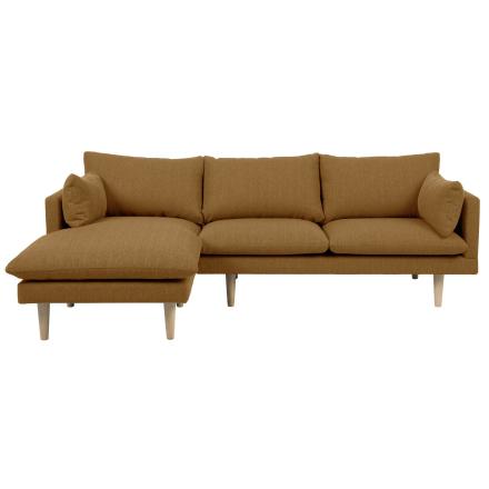 Freja - Gul Chaiselong Sofa (Venstrevendt)