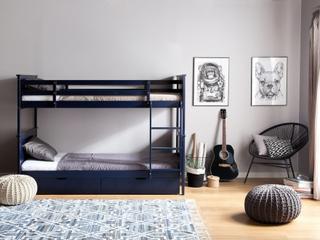 Våningssäng 90 x 200 cm marinblå RADON