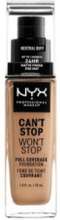 NYX Professional Makeup Can't Stop Won't Stop Foundation Neutral Buff