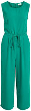 VILA Cropped, Sleeveless Jumpsuit Women Green