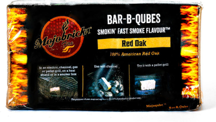 """Rökbricketter """"Mojobricks Bar-B-Cubes"""", Red Oak"""
