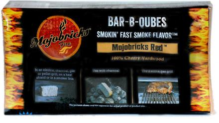 "Rökbricketter ""Mojobricks Bar-B-Cubes"", Red (Cherry)"
