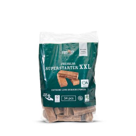 Miljövänliga koltändbriketter Superstarter XXL 34 st