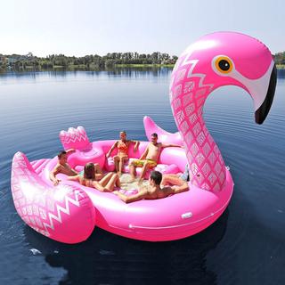 Gigantisk uppblåsbar flamingo