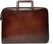Scritto Leather Zip-around Portfolio - Brown