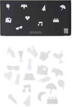 Design Letters - Party Icons Till Opslagstavle 20 Delar, Hvid