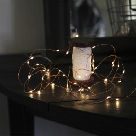 Dew Drop Kobber 400cm LED-lyskæde/Batteri - Lampan
