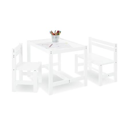 Pinolino - Barnbord - Stol och Bänk - Timo/Vit