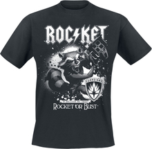 Guardians Of The Galaxy - 2 - Rocket Or Bust -T-skjorte - svart