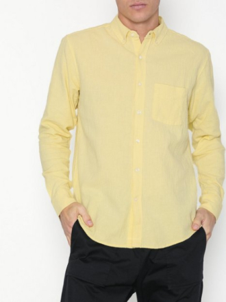 L'Homme Rouge NEEDS Crepe Shirt Kauluspaidat Yellow