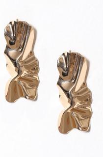 Glamorous Molten Earrings Örhängen Gold