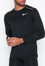 Nike M Nk Dry Miler Top Ls Träningströjor Svart