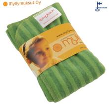 """Myllymuksut - """"Muksut"""" Bambus-Stretch-Prefold Einlagen (35x40 cm) - Grün (Lime)"""