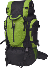vidaXL Vandringsryggsäck XXL 75 L svart och grön