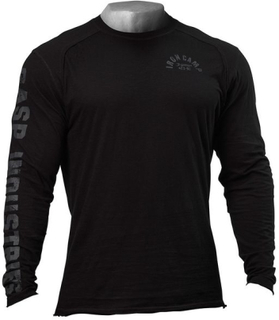 Gasp Throwback LS Tee Black - Genser