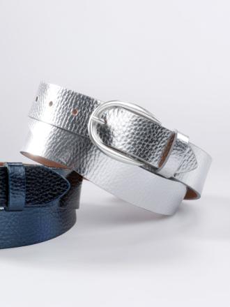 Skärp i 100% läder från Peter Hahn silver