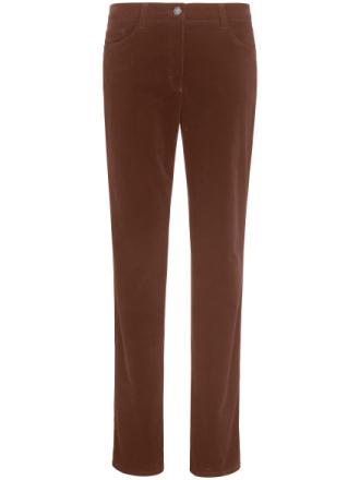 'Feminine Fit'-sportsfløjlsbuks Fra Brax Feel Good brun