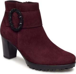 Boots Shoes Boots Ankle Boots Ankle Boots With Heel Rød Gabor