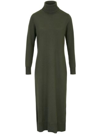Strikkjole i 100% ren ny uld Fra DAY.LIKE grøn - Peter Hahn
