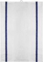 Signerat Handduk Blå bred rand 50x70 cm