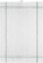 Signerat Handduk Grön smal rand 50x70 cm