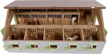 Häststall 9 st. stallboxar leksak till Schleich hästar Kids Globe 1:32