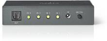 Nedis optisk audioswitch | 4-port - 4x toslink-ingång | 1x tosli