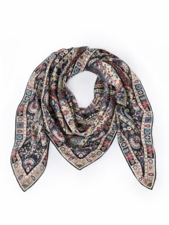 Tørklæde 100% silke Fra Roeckl multicolor - Peter Hahn