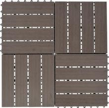vidaXL terrassefliser 11 stk. WPC 30 x 30 cm 1 m2 mørkebrun