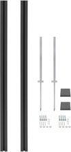 vidaXL WPC-stolper 2 stk. 185 cm