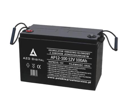 Akumulator VRLA AGM bezobsługowy AP12-100 12V 100Ah