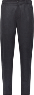 Lex Tapered Puppytooth Woven Trousers - Navy