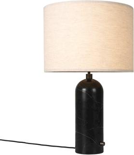 GUBI Gravity Bordslampa Svart Marmor och Skärm av Segelduk Stor