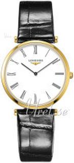 Longines L4.709.2.21.2 La Grande Classique De Longines Hvid/Læder Ø33 mm