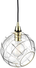 Design by Us Ballroom Diamond Cut Pendel Klar & Guld