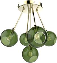 Design by Us Ballroom Molecule Loftlampe Army/Guld