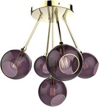 Design by Us Ballroom Molecule Loftlampe Lilla/Guld