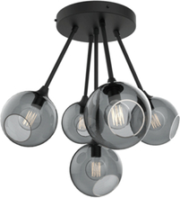 Design by Us Ballroom Molecule Loftlampe Røgfarvet/Sort