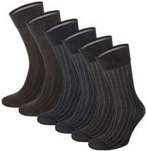Topeco 6-pack Mens Mercerized Cotton Multi Pack Socks * Fri Frakt *