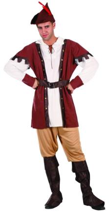 Middelalderskovhugger - kostume voksen - Vegaoo.dk