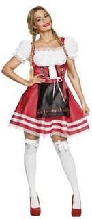 Kostume kjole dirndl Helena damer rød størrelse M