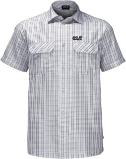 Jack Wolfskin Thompson Shirt Men Herre kortermede trøyer Hvit L