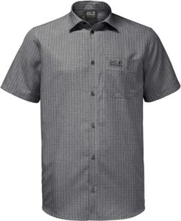 Jack Wolfskin El Dorado Shirt Men Herre kortermede skjorter Grå M
