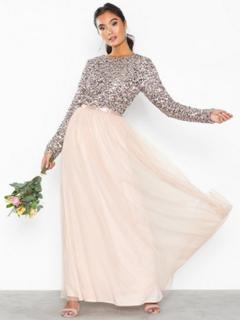 Vila Visparrow L/S Maxi Dress/Za Festkjoler