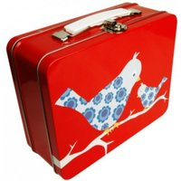 Blafre, koffertboks fugl blå
