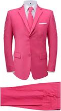Vidaxl tvådelad kostym med slips herrar rosa strl. 46