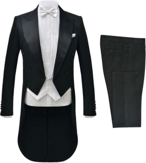 Vidaxl tvådelad kostym frack herrar strl. 46 svart