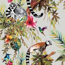 DUTCH WALLCOVERINGS Tapet lemur silver