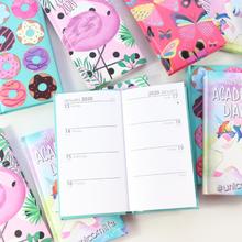 Domikee 2019 2020 year calendar agenda planner organzier school student cute hardcover pocket weekly planner notebook stationery