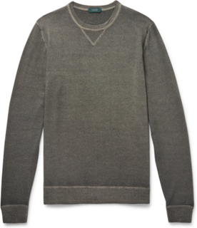 Garment-dyed Virgin Wool Sweater - Charcoal